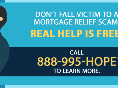 Don't Fall Victim To A Mortgage Relief Scam! Help is free!