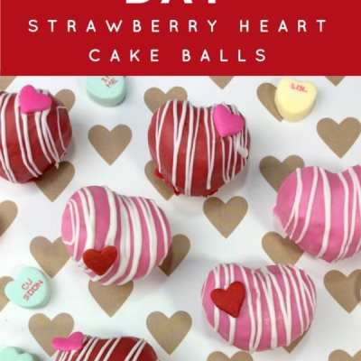 Valentine's Day Heart Strawberry Cake Balls