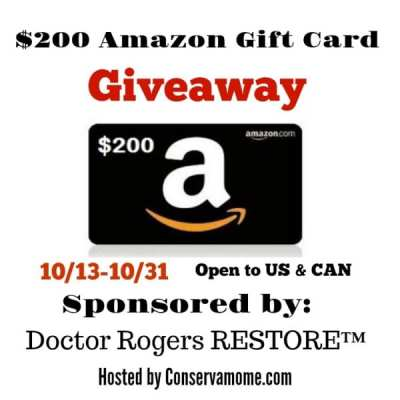 Win this $200 Amazon Gift Card Giveaway! Ends 10/31