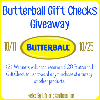 Win 1 of 2 $20 Butterball Gift Checks! Ends 10/25
