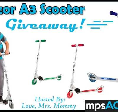 Win the Razor A3 Scooter of Choice Giveaway! Ends 4/1