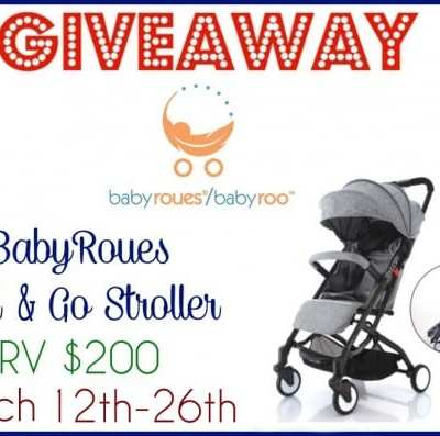 Win the BabyRoues Roll & Go Stroller Giveaway! Ends 3/26