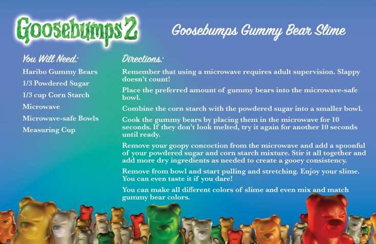 Goosebumps2 Gummy Bear Slime Recipe