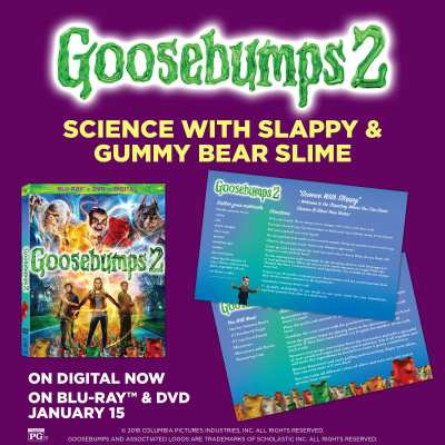 Goosebumps 2 Gummy Bear Slime Recipe, Science Experiments
