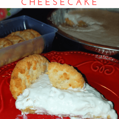 Coconut Cookie No-Bake Cheesecake