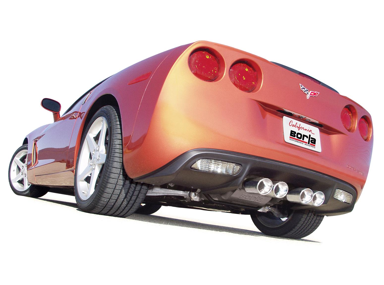 c6 corvette borla stinger exhaust cat back and x pipe 140128