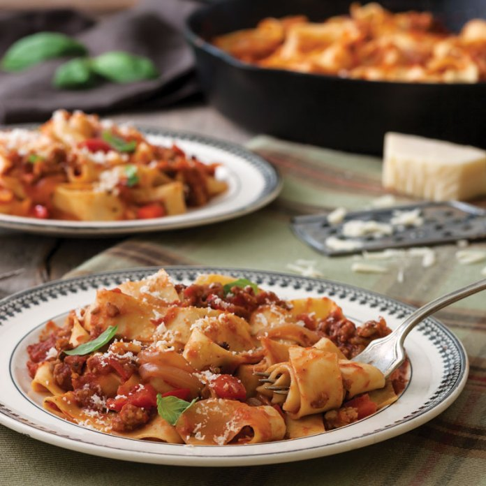 Pappardelle and Italian Sausage