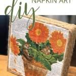 Easy Napkin Art Canvas Diy Diy Home Decorating Crafts