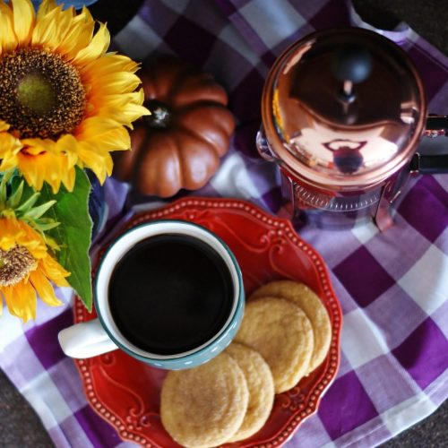A new mug is an easy fall decor idea to cozy up your home.