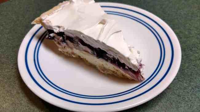 Slice of Blueberry-Banana Cream Pie