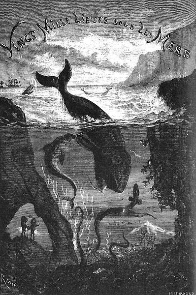 Title page for 20,000 Leagues by Jules Verne