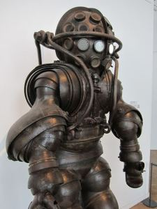 Mr. Bubbles? Carmagnolle Dive Suit. From the French Naval Museum.