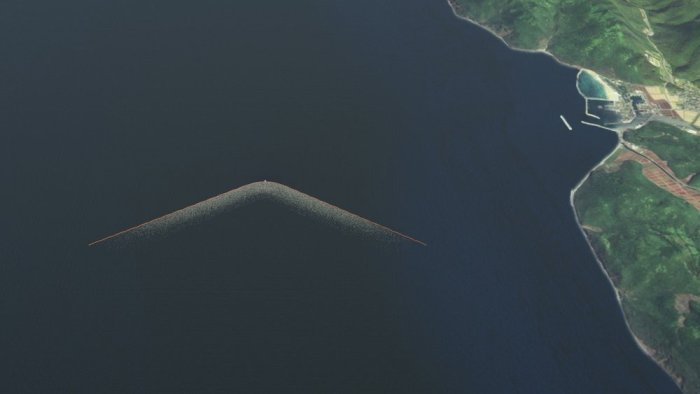 Image produced by The Ocean Cleanup.