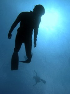 Students practice scientific freediving techniques