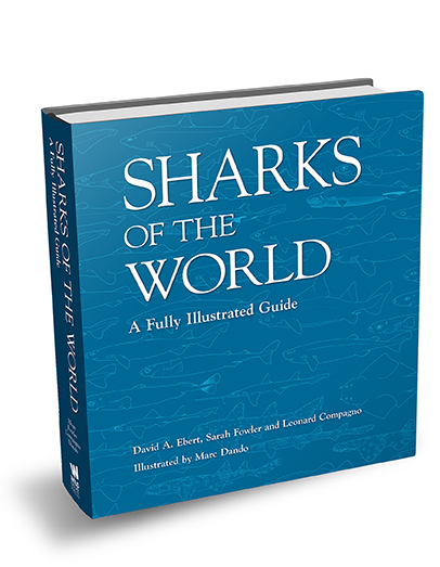 Sharks of the World. Book cover courtesy Marc Dando