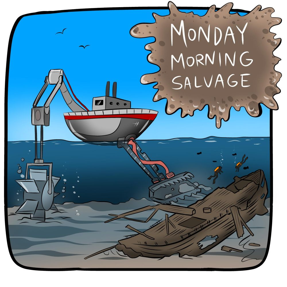 Logo for Monday Morning Salvage.