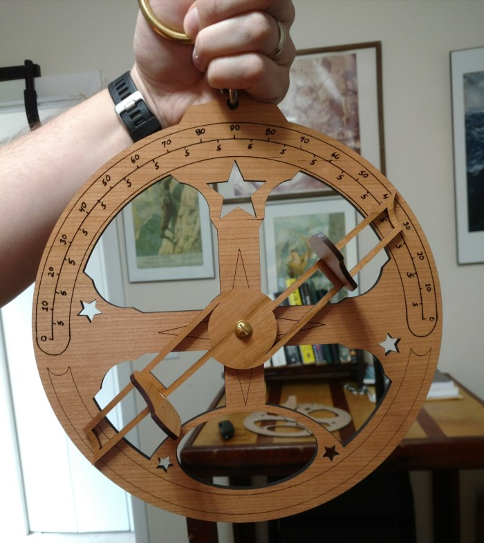 Try your hand at celestial navigation with an open-source, Glowforge