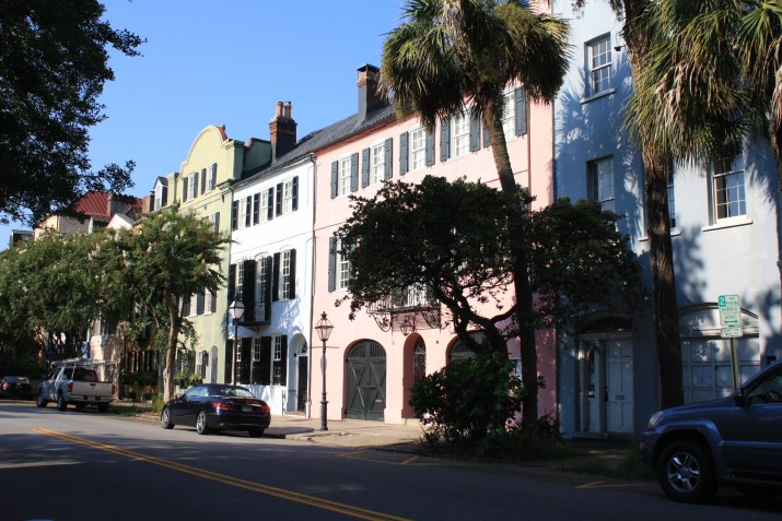 Rainbow Row in in Charleston, South Carolina