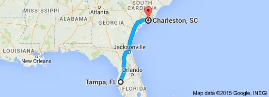 Tampa, FL to Charleston, SC