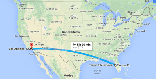 Tampa to Los Angeles
