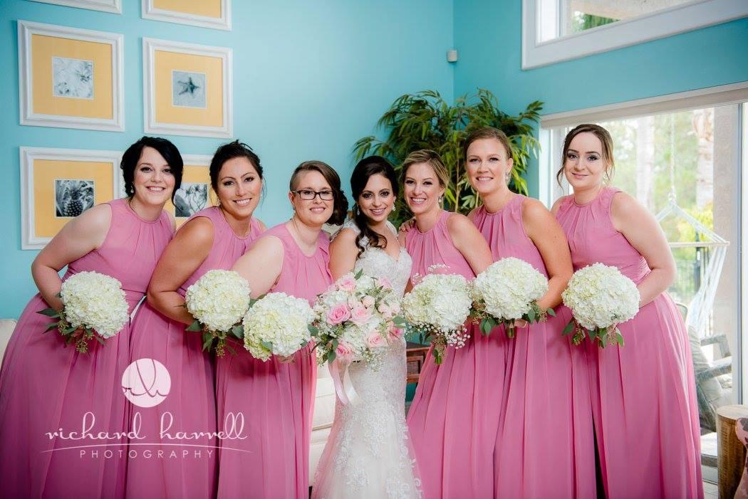 Pink Garden romance wedding Tampa