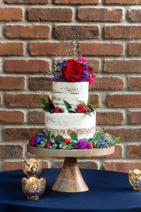 Boho chic dog wedding cake