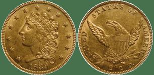 1839-D Quarter Eagle