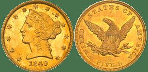 1840-O Half Eagle