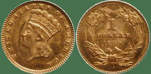 1859-D Gold Dollar
