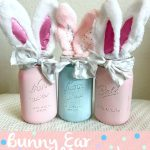 DIY Bunny Ear Mason Jars