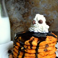 Haunted Halloween Pancakes
