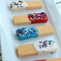 Easy Patriotic Sugar Wafers