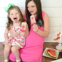 Enjoying Ice Cold Watermelon on the go with Coconut Watermelon Ice Pops