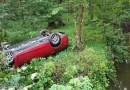 One Ejected in Oliver Shop Road Rollover