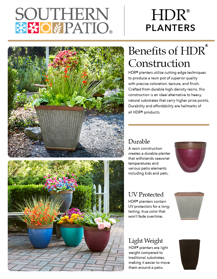 lightweight planters southern patio