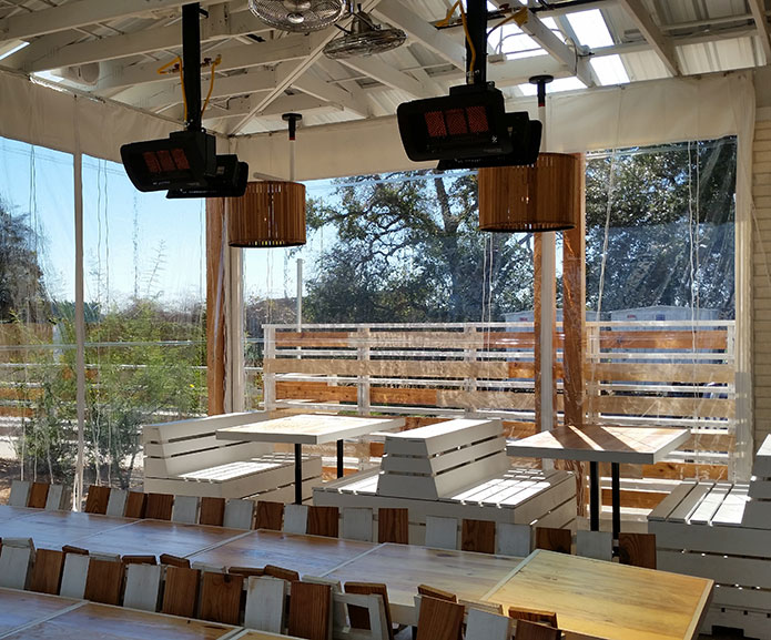 Patio Enclosures for Restaurants and Bars that Roll-Up on Patio Enclosures  id=11153