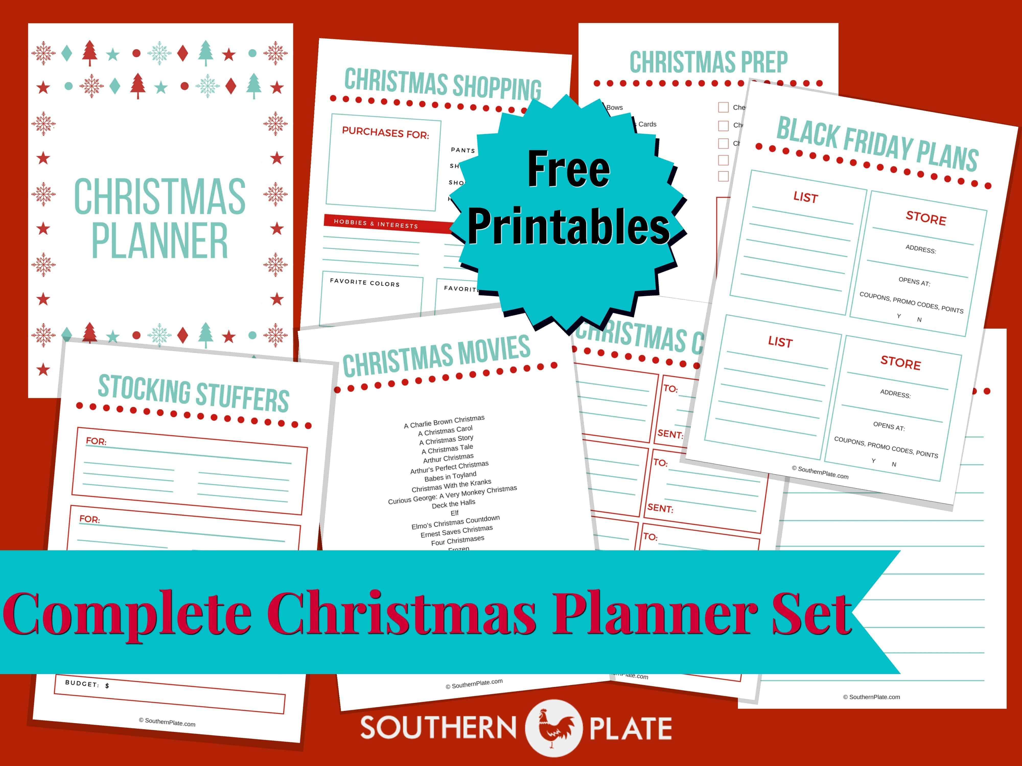Free Christmas Planner Printables