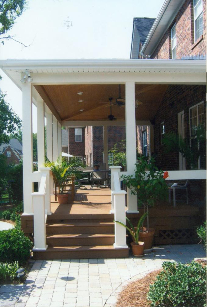 Covered Porches   Southern Porch & Patio Co. on Back Patio Porch Ideas id=45689