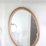 Diy Rope Mirror Tutorial Nautical Style Bathroom Mirror Southern Revivals