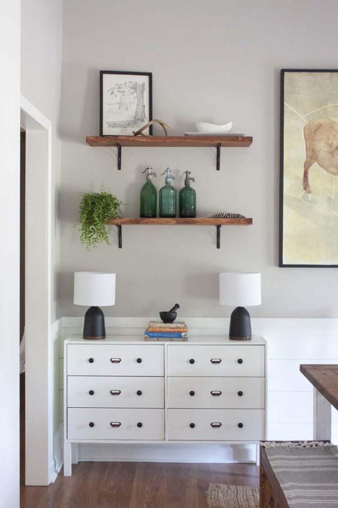 DIY Dining Room Buffet IKEA Rast Hack Southern Revivals