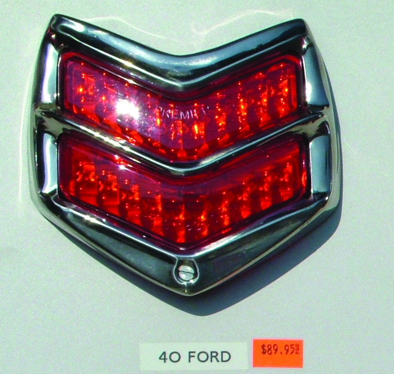 1940 Ford Led Tail Light With Stainless Bezel