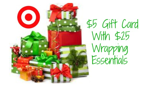 Target Coupon | $5 Gift Card wyb $25 In Wrapping ...