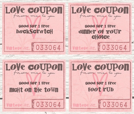 Free Printables Valentine Coupon Books Southern Savers