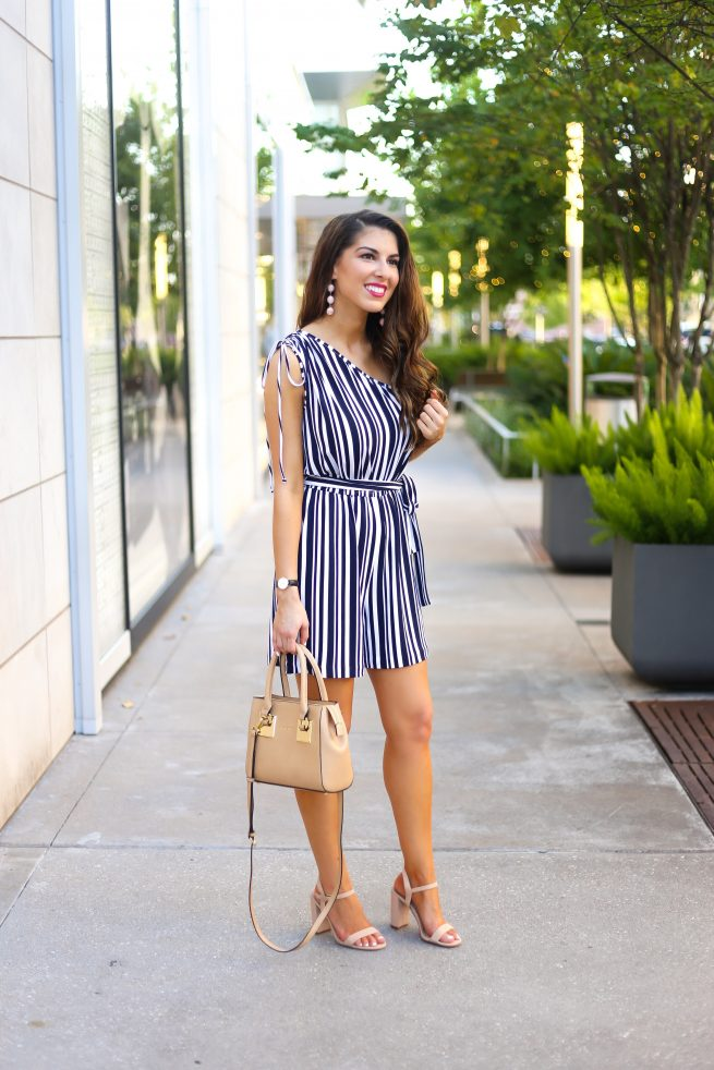 Black and White Romper for Petite and Tall Ladies