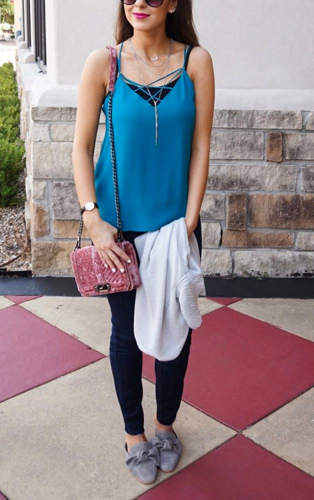 Crisscross Cami and Denim Style