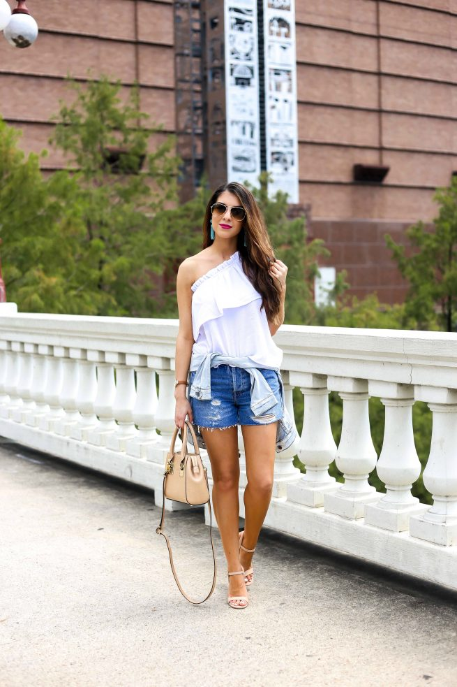 One Shoulder Top and Denim Style