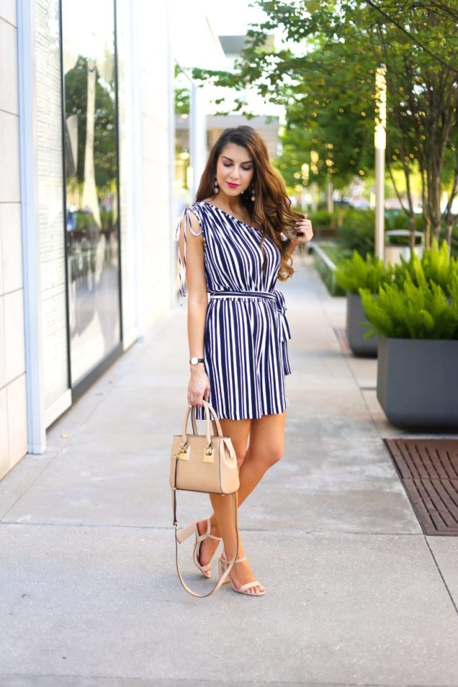 Stripe Romper for Petite and Tall Ladies