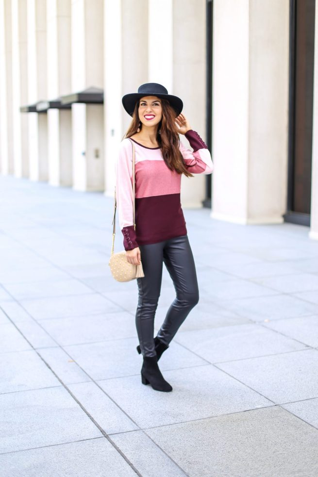 Colorblock Sweater for Fall