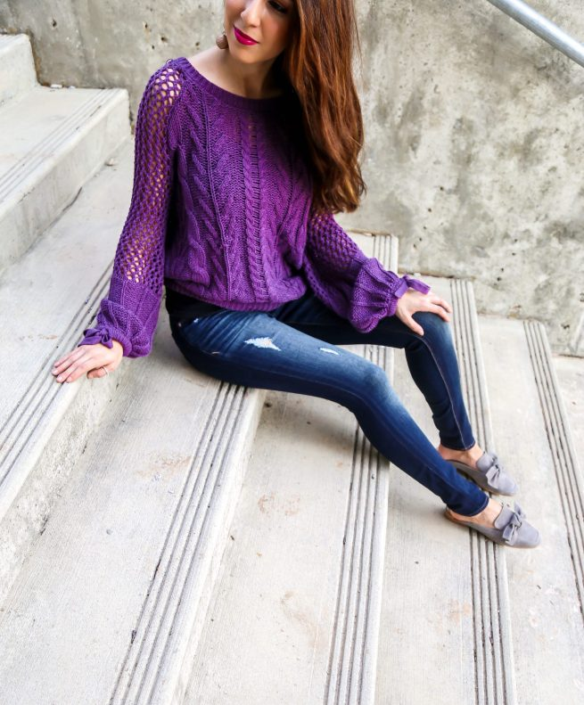 Cozy Purple Sweater for Fall