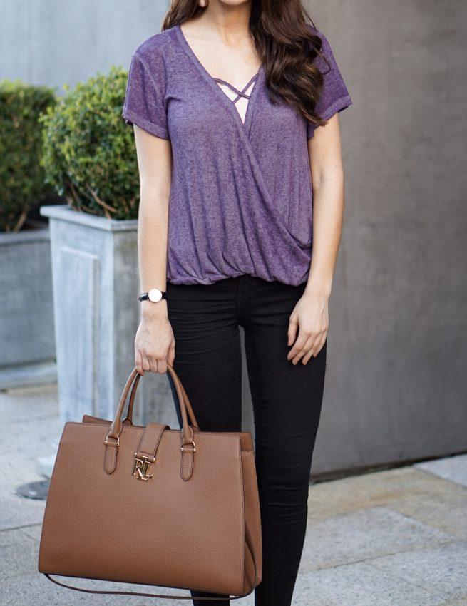 Purple Crossover Top